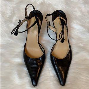 Ellen Tracy black slingback heels Size 8.5